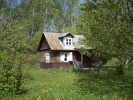 wooden house by oosstock