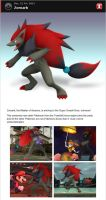 Zoroark in Smash Bros. Dojo! by romisnalo31