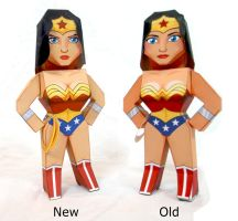 Wonder Woman Old and New model Spot the Differnce by xavierleo