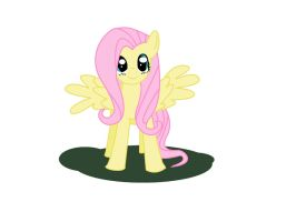 Fluttershy Front by traveling-adventurer