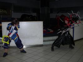 Axel vs Sora cosplay by KellyJane