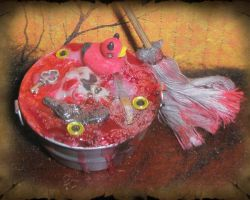 Mini Serial Killer Mop Bucket by grimdeva