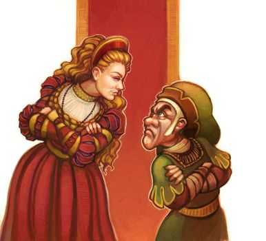 The Miller's Daughter and Rumplestiltskin by RebeccaSorge
