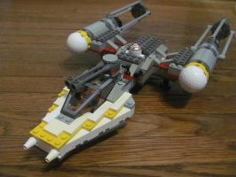 LEGO TIE Fighter and Y-Wing Y-Wing Complete by ZeldaTheSwordsman