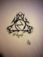 Deathly Hallows, Harry Potter by IridescentArt1996