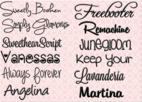 Pack De Fonts by DanielaWarrior