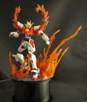 HG Build Burning Gundam - Flame Display Base by AlmightyElemento