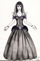 Funeral Wedding Dress by elilith666