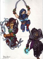 Reliks Spectrum Blade WOW Guild Characters by ThunderBearStudios