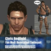 Chris Redfield Fan Mod: Revelation Swimsuit by Adngel