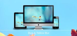 Blue and Yellow Blur by Zim2687