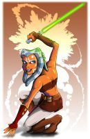 Ahsoka Tano sketch by MachSabre
