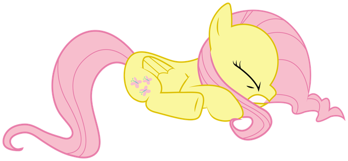 Fluttershy Scared by lookitslaurie