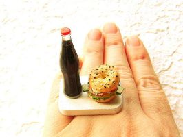 Cola And Sandwich Ring by souzoucreations