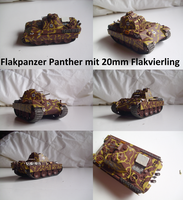 Flakpanzer Panther mit 20mm Flakvierling by Teratophoneus