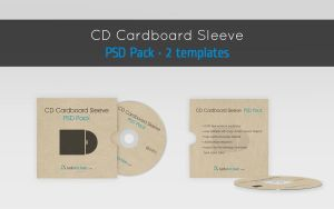 CD cardboard envelope template by raduluchian