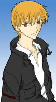 Kyo Sohma LineART Colored by TehUberMeister