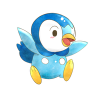 393 - Piplup by malejoveza