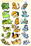 Starter Stickers by kuroeko