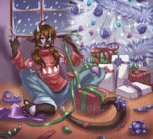 Wrapping the gifts by WhitePhox