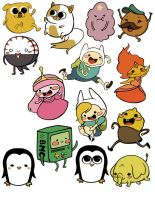 Adventure time stickers by Eterna1-Kiism3t