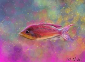 Disco fish by Jacia