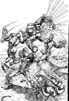Iron Man and War Machine by billmeiggs