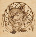 Woodburning: Wolf by Aliehs