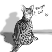 Day 2: Favourite Animal - Bengal Cat by Chi-tenshi