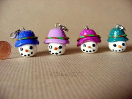 Fimo_Snowmen by LadyxWinter