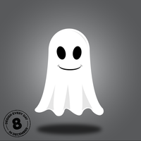Design Every Day in December - Day 8 - Ghost by deebeeArt