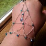 Blue Chain Handflower by OdinsBeadHall