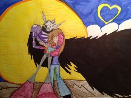 a valentines day pic: Skeleton King and D :D by The-Angel-D