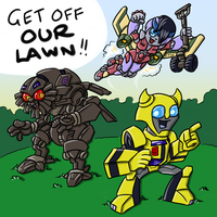 GET OFF OUR LAWN by RazzieMbessai