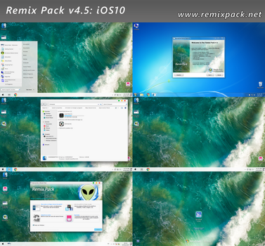iOS10 Remix Pack v4.5 for Windows 7/8-8.1/10 by RemixPack