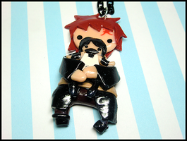 Gaara + OC Necklace by GrandmaThunderpants