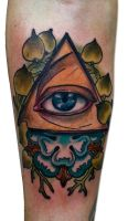 all see eye by tattooneos
