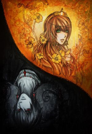 Hades and Persephone -copic sketch-
