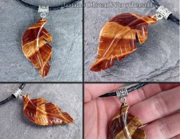 Wooden pendant leaf by JOVictory