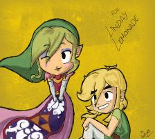 Link and Zelda LINDSAY by CaptainAza