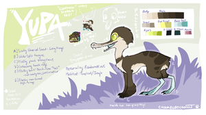 Yupa Reference Sheet by chameleocoonJ
