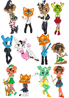 Pet Society Commish Batch 1 by Musapan