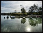 The lake of small boats sleeping by kanes
