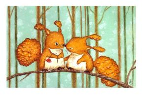 Birthday Squirrels by IreneShpak