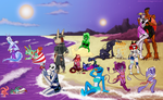 AlienAlliance Beach Invasion Collab by AlfaFilly