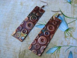 Textured Copper Earrings with by bcainspirations