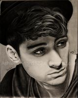 Zayn Malik Charcoal by ashleymenard122