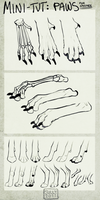 Mini-Tut: How I Draw Paws by CoyoteMange