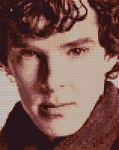 Sherlock Cross Stitch Pattern Preview (Grid) by shingorengeki