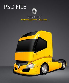 PSD -  Renault Radiance Truck by zaib